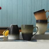 復古簡約馬克杯文藝創意帶蓋勺陶瓷杯咖啡杯