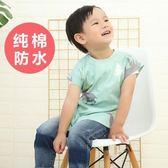 嬰兒吃飯罩長袖純棉防水男童女孩兒童圍巾【不二雜貨】