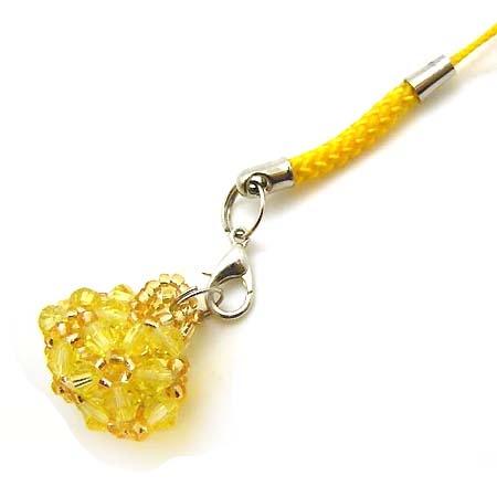 招財水晶串珠錢包吊飾