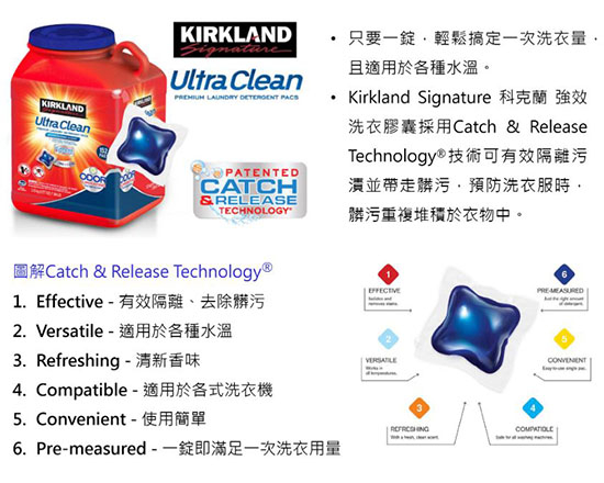 Kirkland Signature 科克蘭 強效洗衣膠囊 152顆