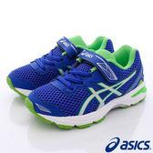 【ASICS】競速童鞋-流線透氣運動款-C620N-4501-藍綠-中童-0
