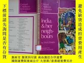 二手書博民逛書店英文原版:India罕見and Her Neighbours b