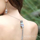 Angemiel安婕米 義大利珠飾 925純銀項鍊+串珠(超值組)