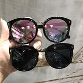 墨鏡女新款韓國個性復古箭頭大框方臉圓臉明星網紅太陽眼鏡潮 流行花園