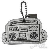 茱麗葉精品【全新現貨】COACH 66748 Keith Haring 聯名音響吊飾鑰匙圈.銀