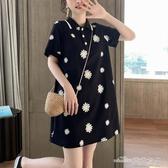 當當衣閣- 新款流行裙子女夏裝仙女裙polo裙港風襯衫T恤裙小個子連衣裙