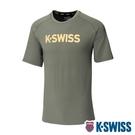 K-SWISS Mesh Back Tee涼感排汗T恤-男-橄欖綠