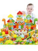 積木兒童積木3-6周歲益智男孩1-2歲嬰兒女孩寶寶拼裝7-8 貝芙莉女鞋
