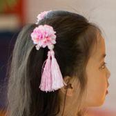 中式兒童發飾發夾頭飾中國風碎花頭花發卡