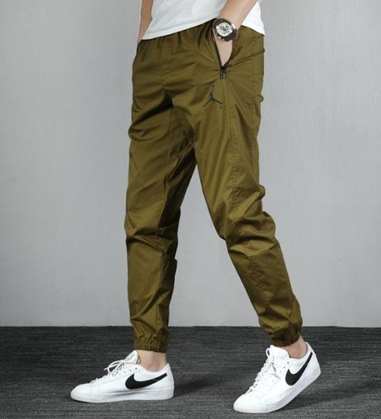 Nike Air Jordan 喬丹男款 運動褲 縮口褲 長褲 休閒褲 九分褲 AV1841 黑色 軍綠色/澤米