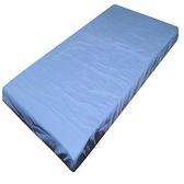 日系素色薄床墊套藍 單人