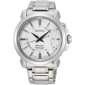 SEIKO 精工 Premier 紳士萬年曆手錶-銀/41.5mm 6A32-00Z0S(SNQ155J1)