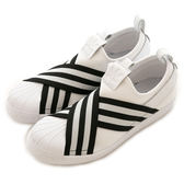 Adidas 愛迪達 SUPERSTAR SLIPON W  經典復古鞋 AC8581 女 舒適 運動 休閒 新款 流行 經典