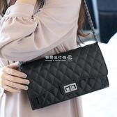 鏈條包  女包小香風菱格鏈條包韓版時尚女士單肩斜挎小包包潮 『歐韓流行館』