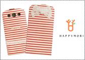 HAPPYMORI SAMSUNG GALAXY S3 條紋蝴蝶 掀蓋式皮套