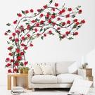 仿真玫瑰花塑料絹花藤蔓客廳室內水管道空調...