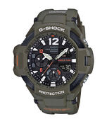 CASIO G-SHOCK 帥氣復古數位羅盤飛行員腕錶 GA-1100KH-3A