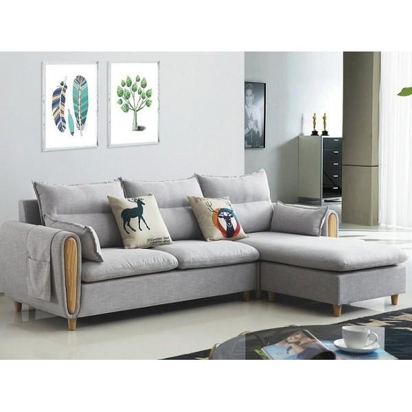 沙發 L型布沙發 CV-330-3 淺灰色L型沙發【大眾家居舘】