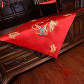 中式復古紅色流蘇蓋頭大紅色繡花蓋頭秀禾服蓋頭龍鳳褂 艾維朵