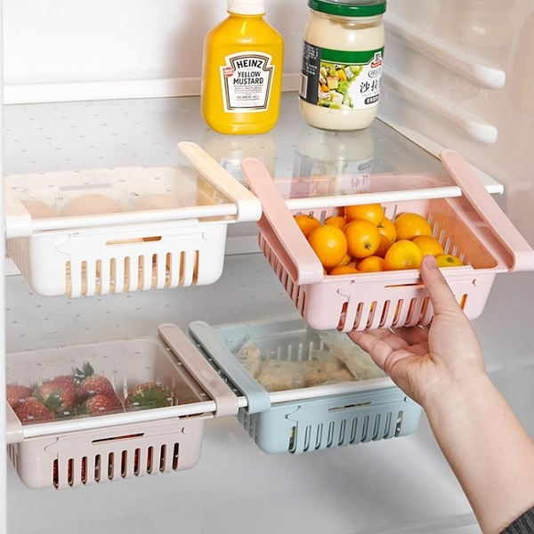 冰箱保鮮收納盒抽屜式盒子可伸縮冷凍專用收納神器食品儲存箱雞蛋 【優樂美】