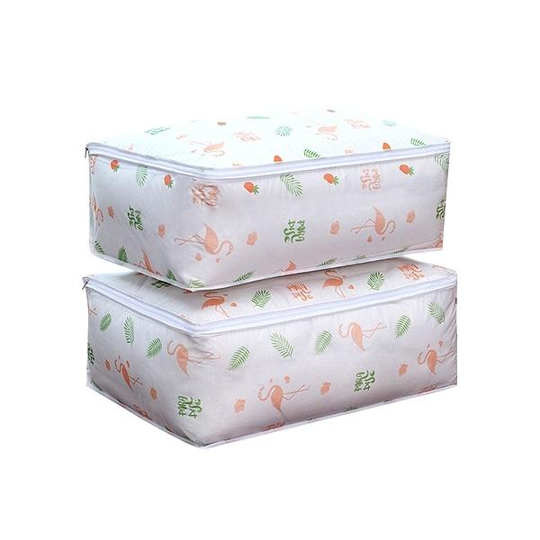 清新印花棉被/衣物收納防塵袋(1入)【小三美日】款式隨機出貨