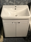 【麗室衛浴】破盤超低價 60公分 3019臉盆+白鐵烤漆浴櫃