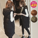 BOBO小中大尺碼【3691】長版保暖羽絨背心外套 共3色 現貨