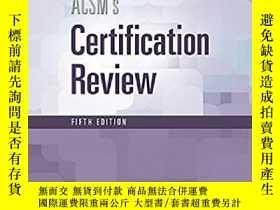 二手書博民逛書店ACSM認證審覈罕見ACSM s Certification R
