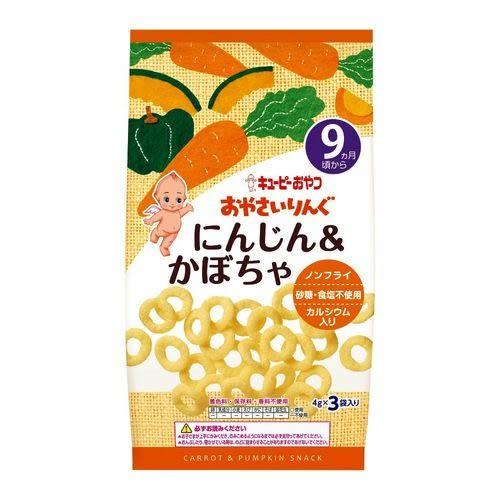日本KEWPIE S-6 寶寶菓子圈圈-南瓜胡蘿蔔