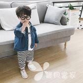 糖果爺爺男童牛仔外套2018新款春夏裝韓版笑臉兒童寶寶童裝上衣女