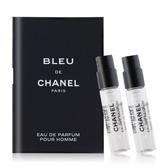 CHANEL 香奈兒 BLEU DE 藍色男性香水(1.5ml)X2