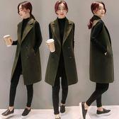 毛呢馬甲女外套韓版新款無袖背心中長款顯瘦秋冬西裝馬夾