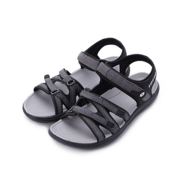 LOTTO 織帶輕涼鞋 黑 LT8AWS6170 女鞋 鞋全家福