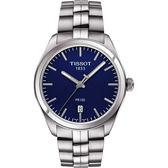 TISSOT 天梭 PR100 經典美學時尚手錶-藍/39mm T1014101104100