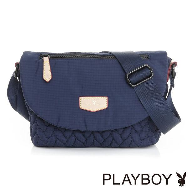 PLAYBOY- 翻蓋斜背包 輕量空氣包系列-午夜藍