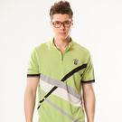 *86精品* 綠色線衫黑白條紋設計男裝款【86749-60】