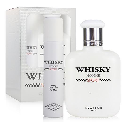 Whisky威士忌 運動男性淡香水禮盒(男香100ml+體香噴霧75ml)★Vivo薇朵