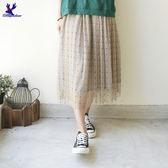 【早秋新品】American Bluedeer - 條紋點半身裙(特價)  秋冬新款