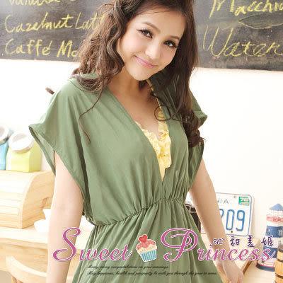 泳衣配件  深V款比基尼外搭罩衫 - 戀上海邊(綠) -沁甜美姬