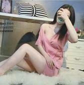 浴袍 短褲日式睡衣女夏季短袖薄款性感和服兩件套純棉寬鬆學生家居服【快速出貨八折優惠】