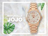 【時間道】NATURALLY JOJO 經典時尚羅馬刻度腕錶 /銀白面玫瑰金帶(JO96922-80R)免運費
