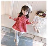 女童洋裝 女童洋裝秋季新款兒童針織格子裙3寶寶洋氣公主裙韓版1-4歲  凱斯盾數位3c