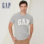 Gap 男裝 Logo棉質舒適圓領短袖T恤 443765-麻灰色