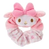 【震撼精品百貨】My Melody 美樂蒂~Sanrio 美樂蒂可愛大臉造型絨布髮圈(格紋)#98340