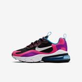 Nike Air Max 270 React GS [BQ0101-001] 大童鞋 運動 休閒 氣墊 緩震 穿搭 黑粉
