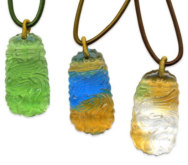 鹿港窯~居家開運水晶琉璃項鍊~鳳舞◆附精美包裝◆免運費送到家