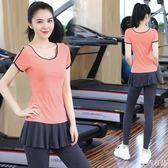 瑜伽服套裝女假兩件顯瘦健身服專業運動速干衣春夏新款瑜珈服  麥吉良品
