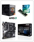 (A520系列)AMD R5 3400G + 華碩 PRIME A520M-E/CSM + Intel 660P 256G M.2 SSD(工業包裝)【刷卡含稅價】