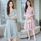 洋裝 韓版 小香風蕾絲婚禮派對連身裙 小禮服 花漾小姐【預購】