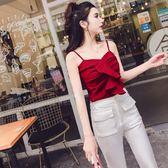 性感荷葉邊抹胸打底背心新款韓版時尚氣質女裝一字肩吊帶上衣  草莓妞妞